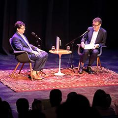Dean Strang responds to questions before a UQ audience