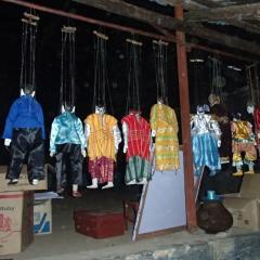 Puppets waiting for their performance in the Central Dry Zone in Myanmar