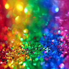 Rainbow glitter. © Sharon McCutcheon via Pexels.
