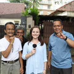 Sophie Volker reporting from a Jakarta polling place.